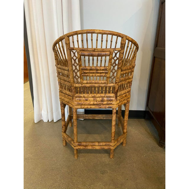 Brighton Pavilion Style Chinoiserie Burnished Bamboo Armchair For Sale In Dallas - Image 6 of 7