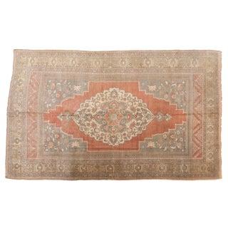 "Vintage Distressed Oushak Carpet - 6'4"" X 10'4"" For Sale"