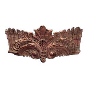 19th Century Carousel style stripped and carved wall plaque For Sale