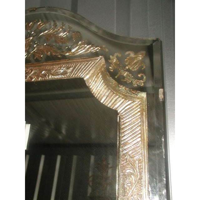 Mid 20th Century Vintage 20th Century Beveled Foil Mirror For Sale - Image 5 of 8