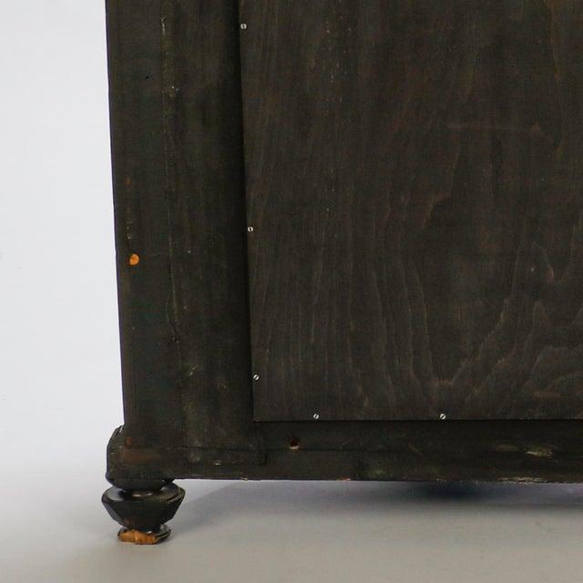 Black Italian Ebonised Mahogany Console For Sale - Image 8 of 10
