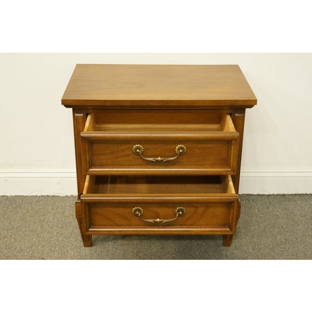 20th Century Italian Dixie Furniture Italian Two Drawer Nightstand
