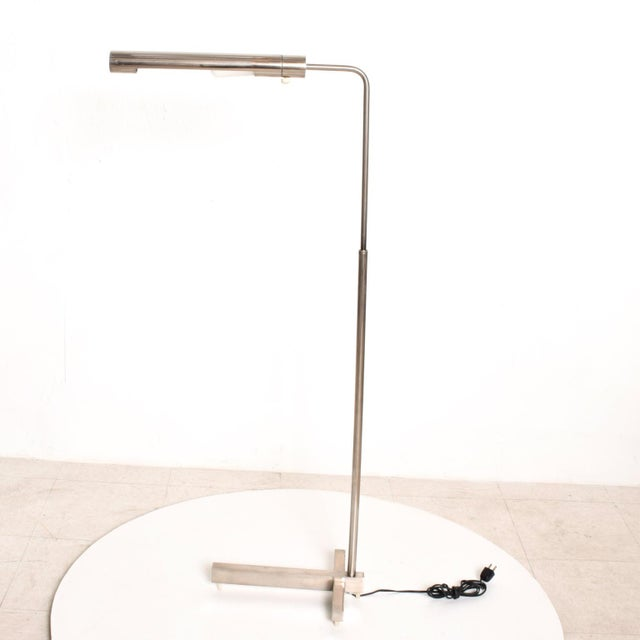 Gray Mid-Century Modern Nickel Plated Task Reading Pharmacy Lamp by Casella For Sale - Image 8 of 11