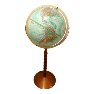 Mid-Century Globe on Stand For Sale