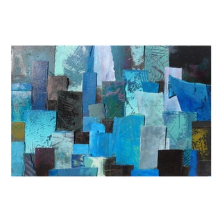Abstract Painting, Tapestry in Blue For Sale