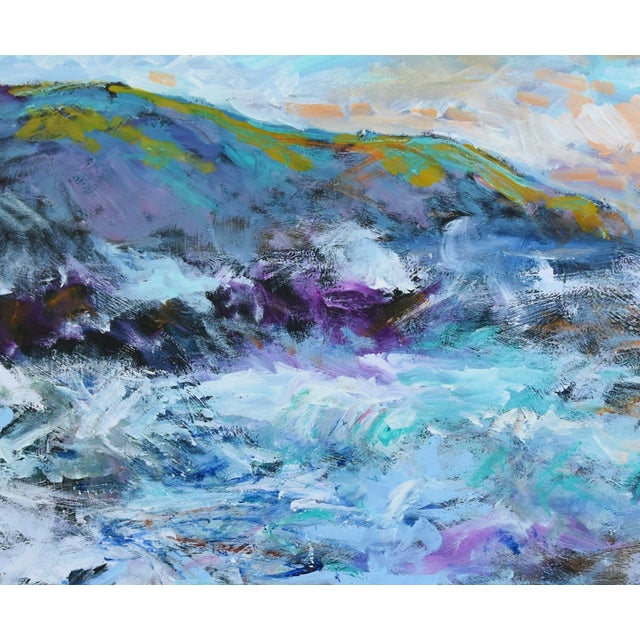 Juan Pepe Guzman California Crashing Ocean Waves Oil Painting For Sale - Image 4 of 9