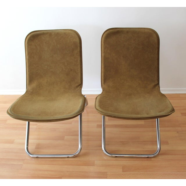 Folding Lounge Chairs - a Pair - Image 4 of 7