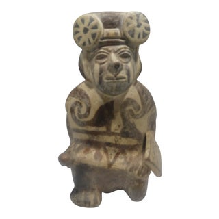 Authentic Pre Columbian Moche Warrior Stirrup Vessel From Major Auction House For Sale