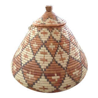 Handwoven Wedding Lidded Basket