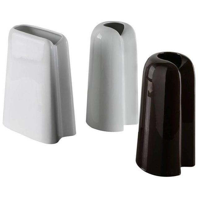 Ceramic Set of Three Ceramic Vases by Ambrogio Pozzi For Sale - Image 7 of 7