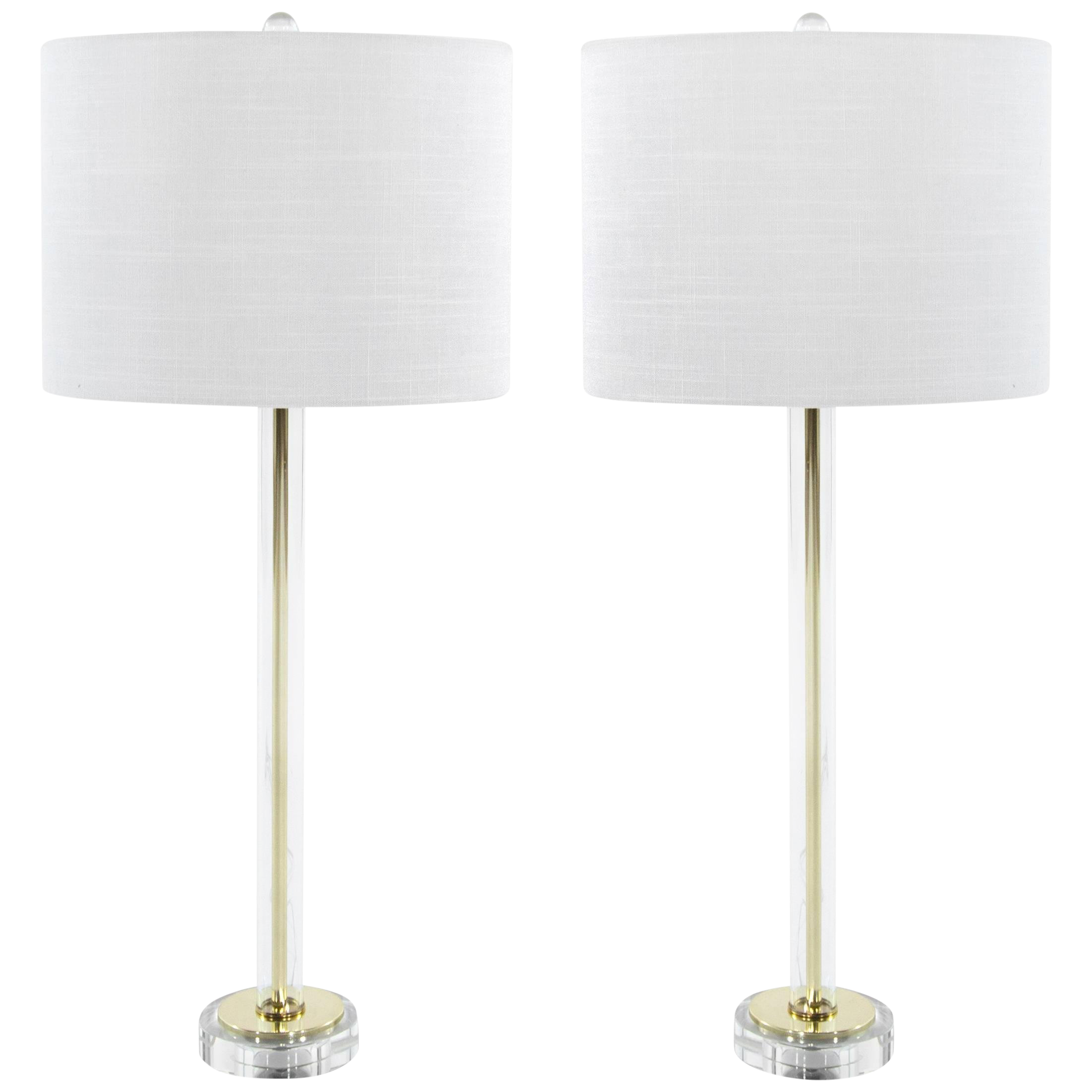 Lovely Mid Century Glass Table Lamps Decaso