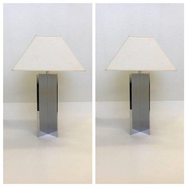 Habitat Polished Aluminium Table Lamps by Paul Mayen for Habitat - A Pair For Sale - Image 4 of 10