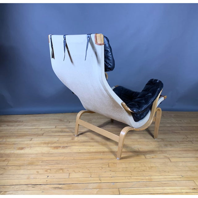 "Bruno Mathsson ""Pernilla"" Lounge Chair + Ottoman, Sweden For Sale In New York - Image 6 of 11"