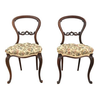 Antique French Small Chairs - a Pair
