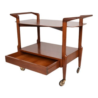 Mid-Century Mexican Modern Mahogany Service Cart For Sale