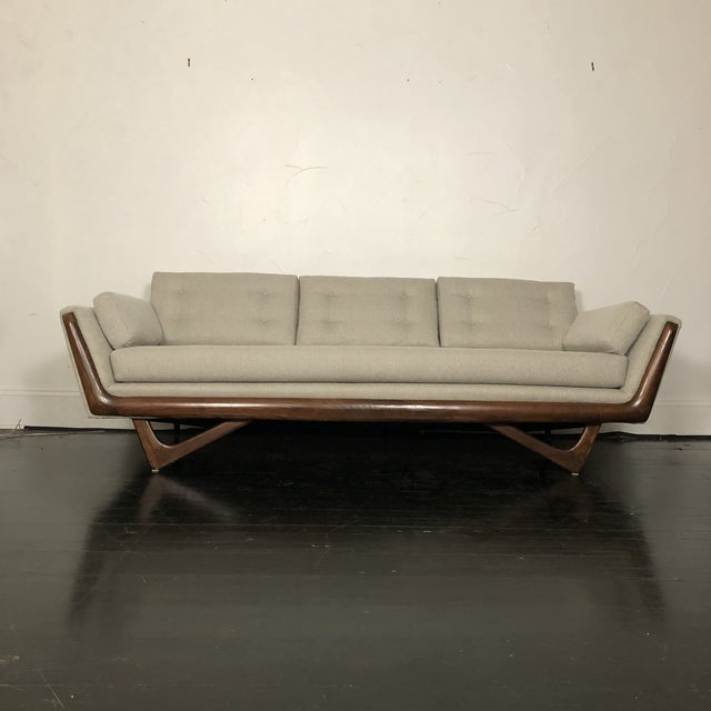Craft Associates 1960s Restored Adrian Pearsall Gondola Sofa For Sale - Image 4 of 13