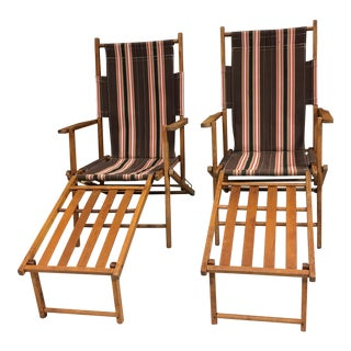 Vintage Sunset Teak Lawn Chaise - a Pair For Sale