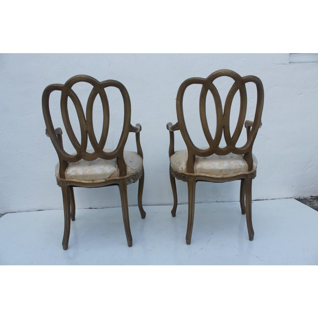 Hollywood Regency Dorothy Draper Style Arm Chairs- A Pair - Image 10 of 11