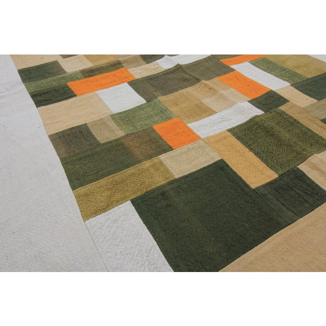 Vintage Turkish Curtain Perde Kilim Patchwork Rug - 2′6″ × 6′1″ - Image 5 of 6