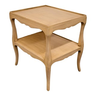 1960s French Provincial Shabby Chic End Table For Sale