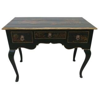 Verde Antico Louis XV Style Chinoiserie Bureau Plat For Sale
