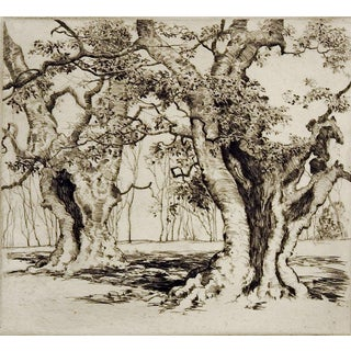 Burnham Beeches by Alfred Hutty Etching For Sale