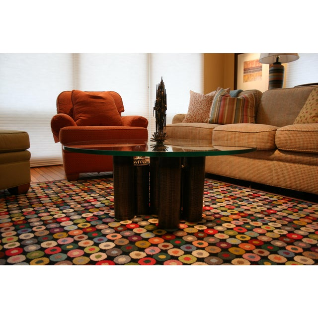 E. Garfinkle E. Garfinkle Brutalist Coffee Table With Coordinating Chandelier For Sale - Image 4 of 13