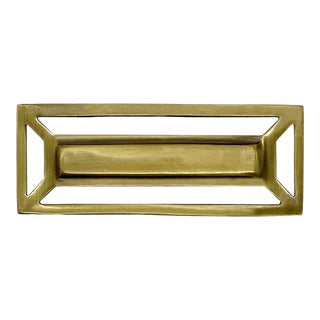 Addison Weeks McCoy Pull, Antique Brass For Sale