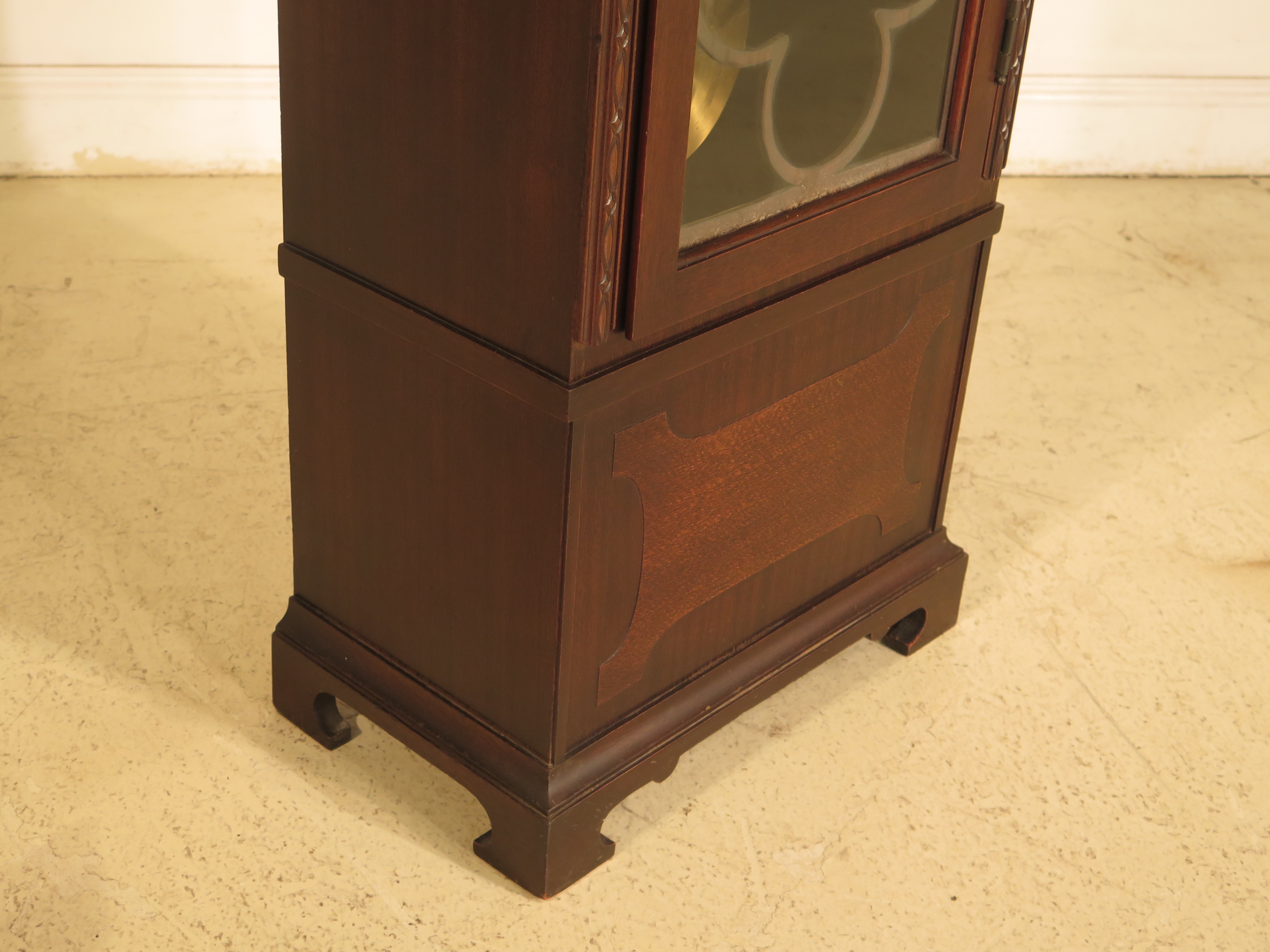 Herschede 5 Tube Dome Top Mahogany Grandfather Clock For Sale   Image 5 Of  11