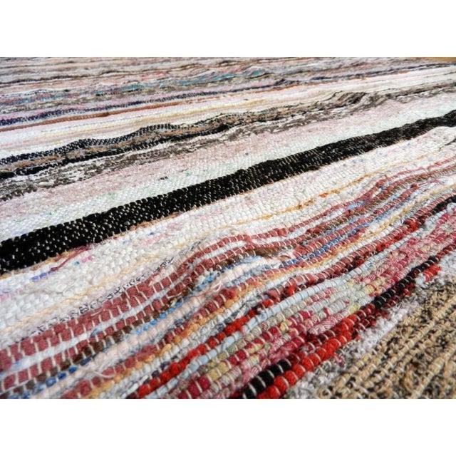 "Striped Turkish Rag Rug Runner- 10'3"" X 3'2"" - Image 10 of 10"