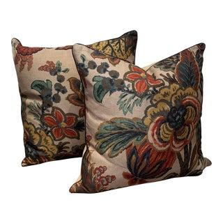 "Ryan Studio ""Floral Gala"" Pillows - a Pair For Sale"
