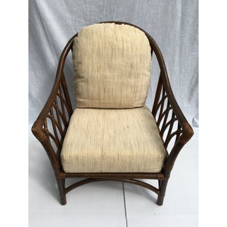 Vintage Rattan Barrel Back Club Chair Preview