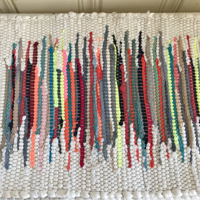 Americana Boho Woven Rag Rug Placemats, Set of Four For Sale - Image 3 of 8