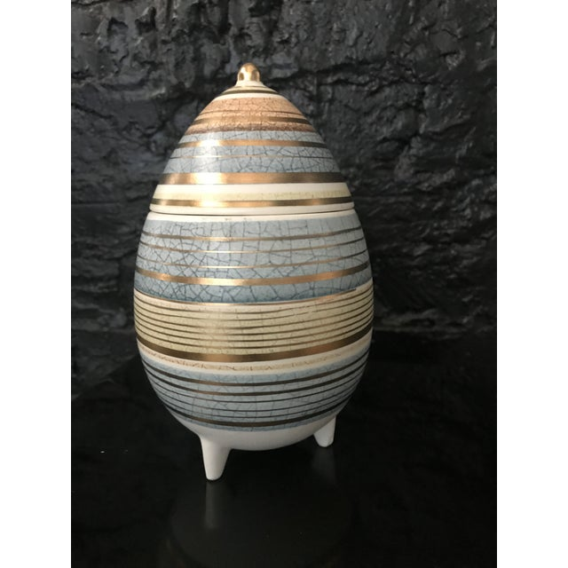 Vintage 1950's Sascha Brastoff Jar from the Abstract Series is a great find for any collectors of Mid-Century decor....