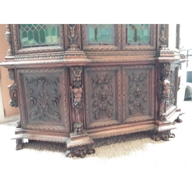 Ornate Renaissance Revival French Bookcase For Sale - Image 4 of 12