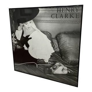 1986 Editions Du Désastre Reproduction Fashion Print After Henry Clarke, Framed For Sale