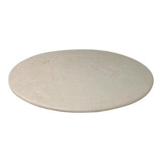 Round Cream Travertine Table Top For Sale