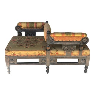 Victorian Eastlake Style Tete a Tete For Sale