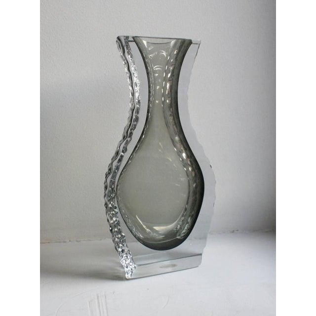 Mid-Century Modern Mandruzzato Murano Art Glass Vase by Cavagnis For Sale - Image 3 of 8