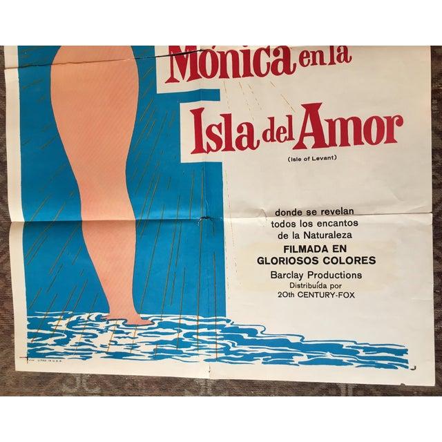 Vintage Mid-Century Monica en Al Isla Del Amor Foreign Movie Poster