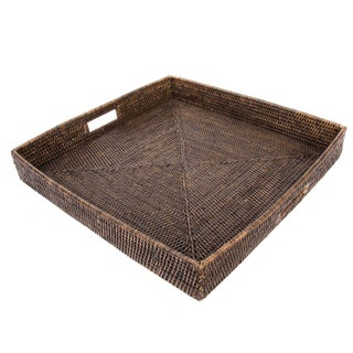 Artifacts Rattan Square Tray For Sale