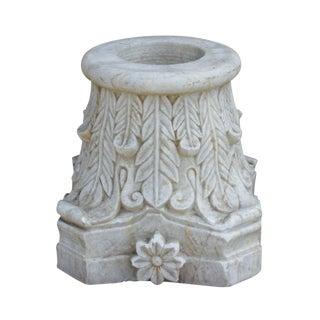 Floral Carved Marble Pedestal