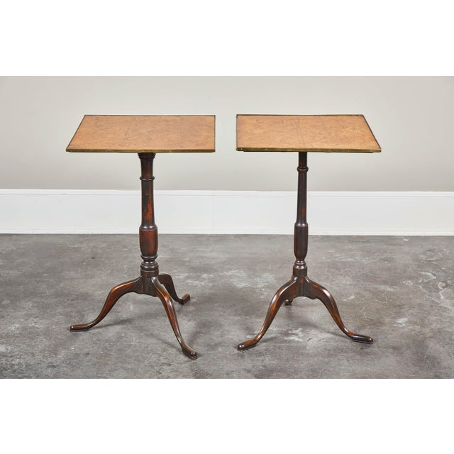 Early 19th Century Pair of Early 19th Century Swedish Pedestal Tilt-Top Tables For Sale - Image 5 of 11