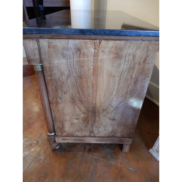 Traditional Early 19th C Walnut French Empire Commode For Sale - Image 3 of 12