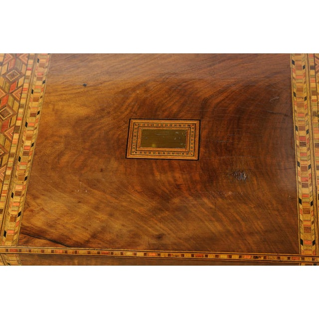 English Traditional Writing Box on stand For Sale - Image 3 of 11