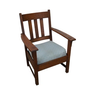 Limbert Antique Mission Oak Arm Chair