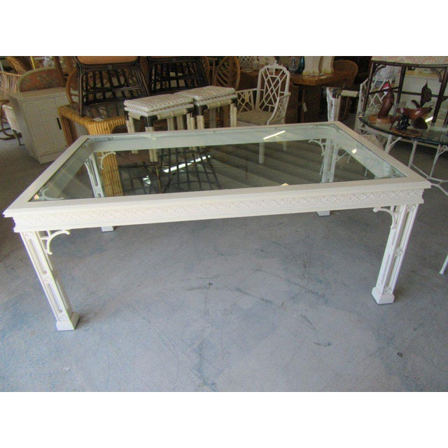 Transparent Palm Beach Fretwork Dining Table For Sale - Image 8 of 12