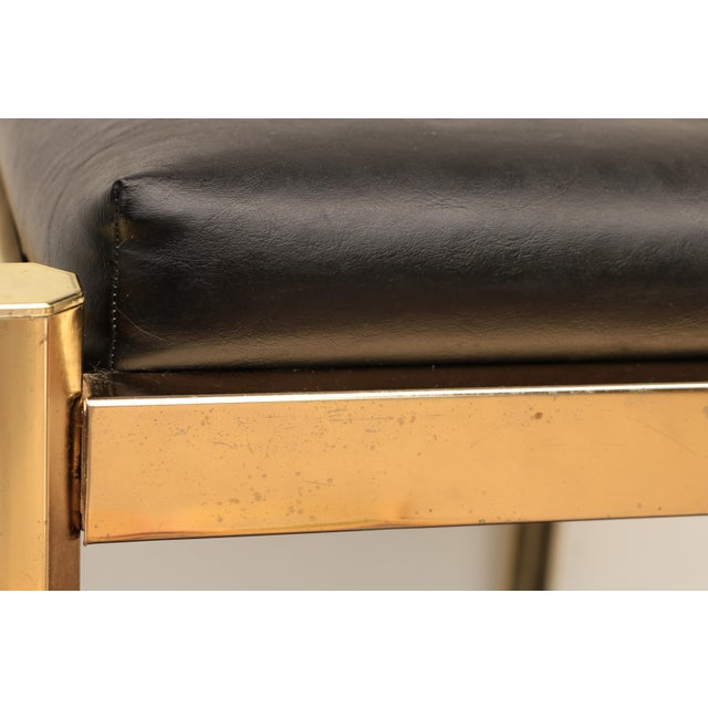 1970s Koch Originals Vanity Stool in Gold and Black For Sale - Image 5 of 8
