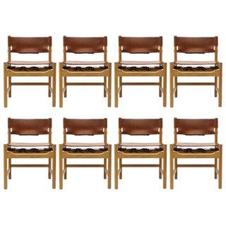 1960s Vintage Børge Mogensen Dining Chairs- Set of 8 For Sale
