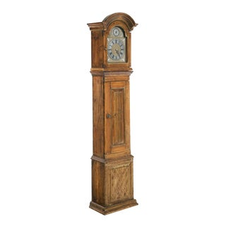 19th Century Danish Pine Long Case Clock For Sale